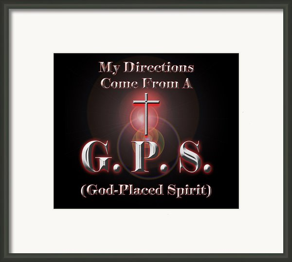 My Gps Framed Print By Carolyn Marshall