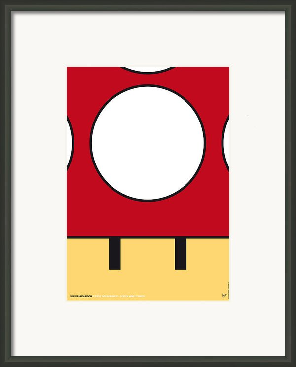 My Mariobros Fig 05a Minimal Poster Framed Print By Chungkong Art