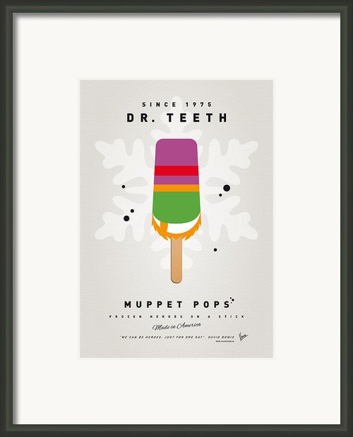 My Muppet Ice Pop - Dr Teeth Framed Print By Chungkong Art