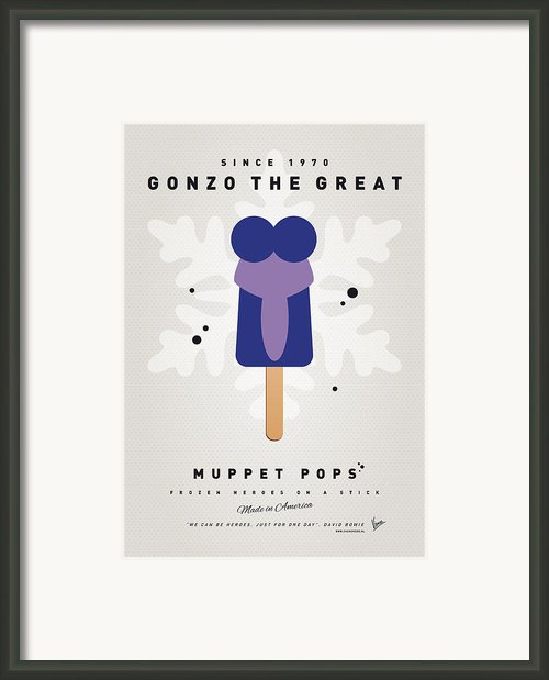 My Muppet Ice Pop - Gonzo Framed Print By Chungkong Art