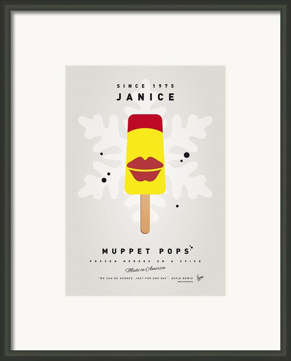 My Muppet Ice Pop - Janice Framed Print By Chungkong Art