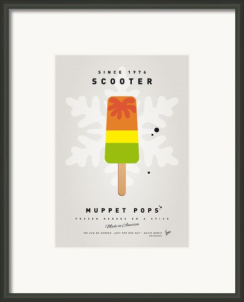 My Muppet Ice Pop - Scooter Framed Print By Chungkong Art