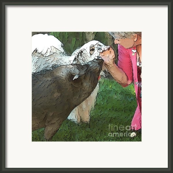 My Pig And Dog Friends Framed Print By Artist And Photographer Laura Wrede