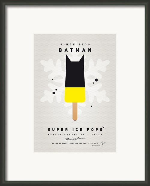 My Superhero Ice Pop - Batman Framed Print By Chungkong Art
