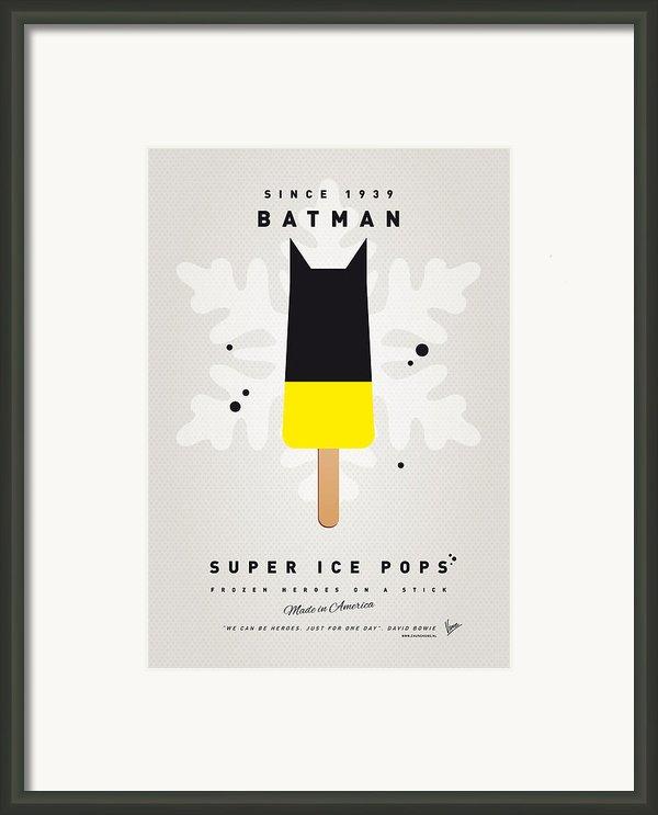 My Superhero Ice Pop - Batman Framed Print By Chungkong Art