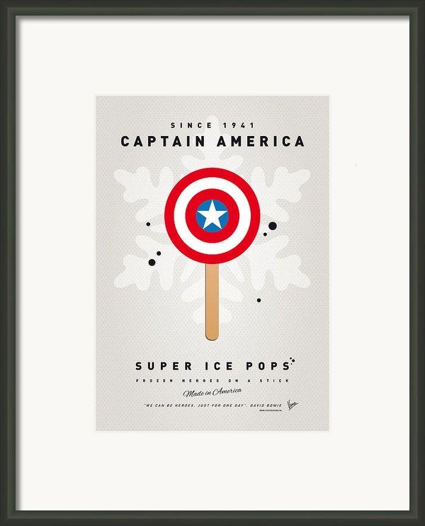 My Superhero Ice Pop - Captain America Framed Print By Chungkong Art