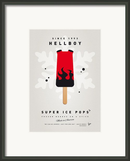 My Superhero Ice Pop - Hellboy Framed Print By Chungkong Art