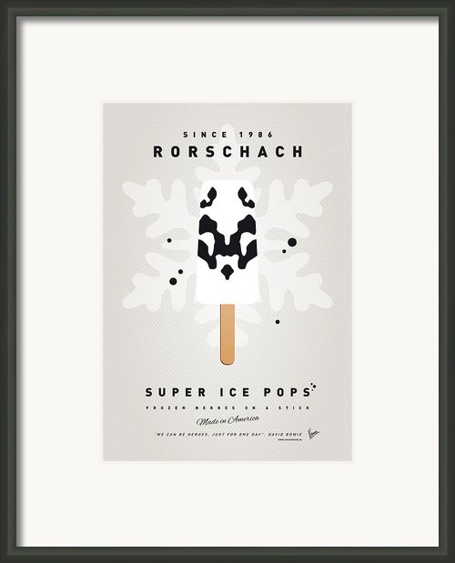 My Superhero Ice Pop - Rorschach Framed Print By Chungkong Art