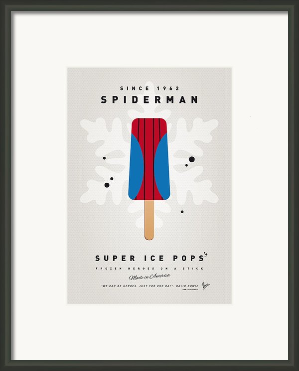 My Superhero Ice Pop - Spiderman Framed Print By Chungkong Art