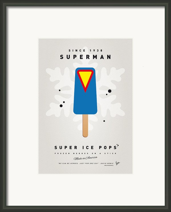 My Superhero Ice Pop - Superman Framed Print By Chungkong Art