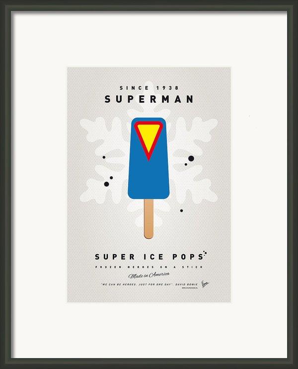 My Superhero Ice Pop - Superman Framed Print By Chungkong Art
