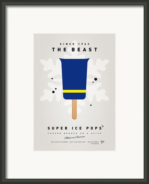 My Superhero Ice Pop - The Beast Framed Print By Chungkong Art