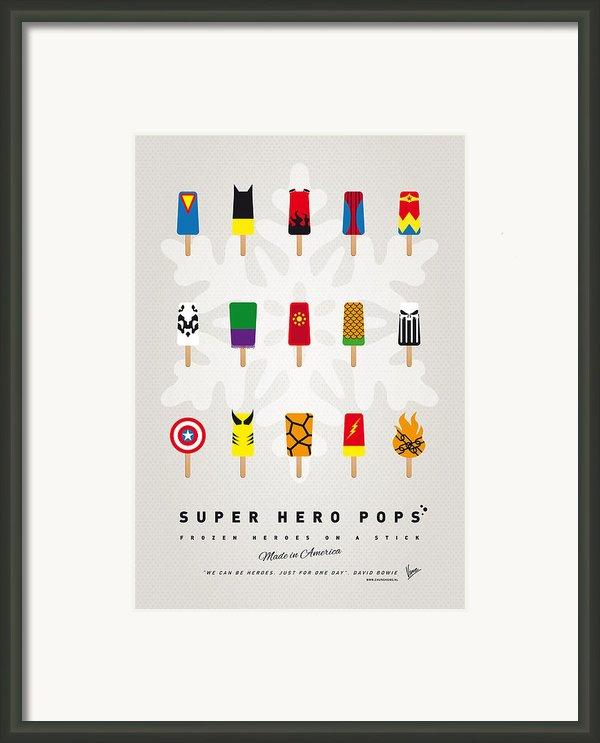 My Superhero Ice Pop Univers Framed Print By Chungkong Art