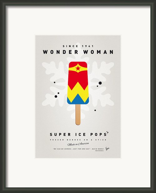 My Superhero Ice Pop - Wonder Woman Framed Print By Chungkong Art