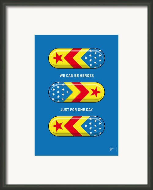 My Superhero Pills - Wonder Woman Framed Print By Chungkong Art