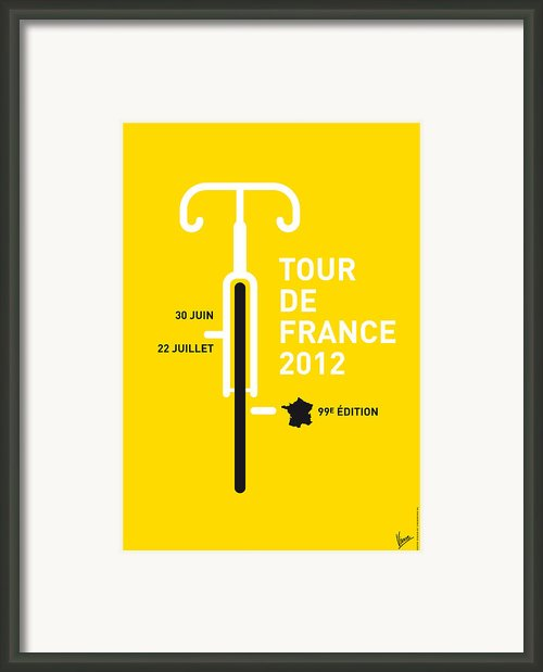 My Tour De France 2012 Minimal Poster Framed Print By Chungkong Art
