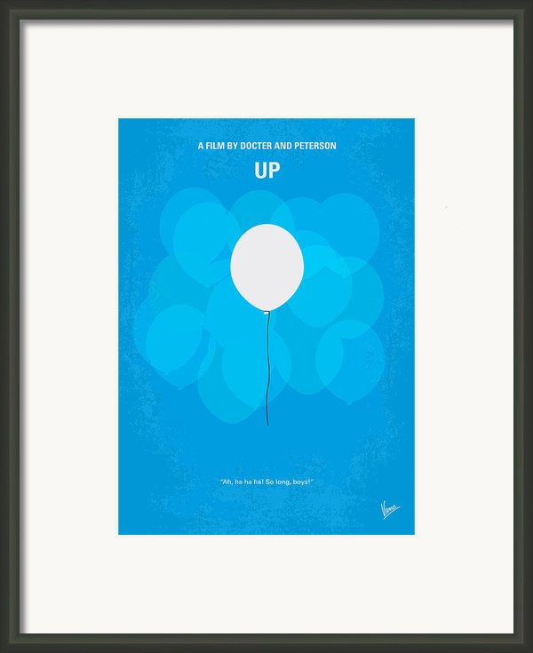 My Up Minimal Movie Poster Framed Print By Chungkong Art