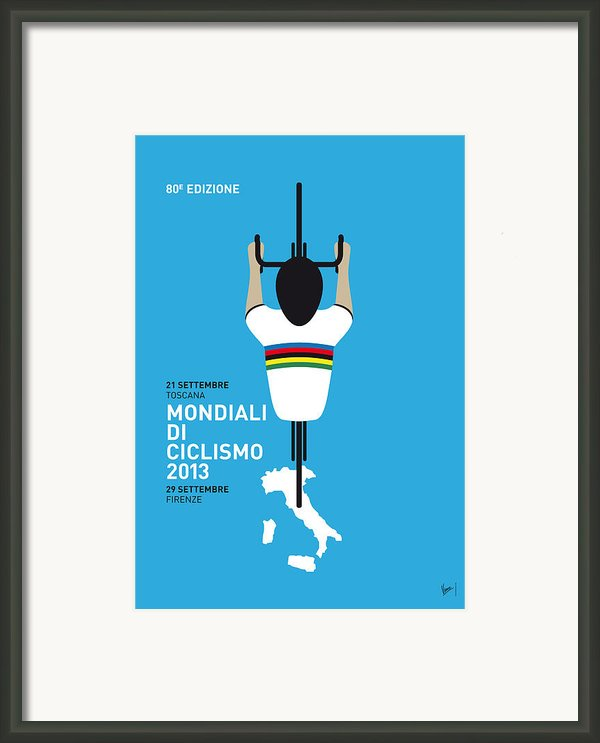 My World Championships Minimal Poster Framed Print By Chungkong Art