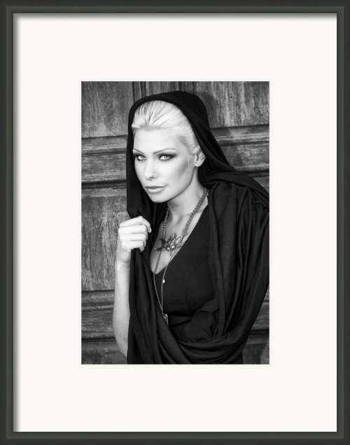 Mysterious Obsession Bw Framed Print By William Dey