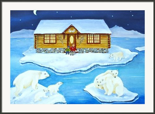 Nanook Of The North Framed Print By Virginia Ann Hemingson