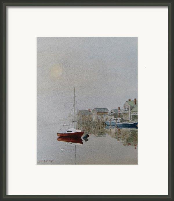 Nantucket Fog Framed Print By Karol Wyckoff