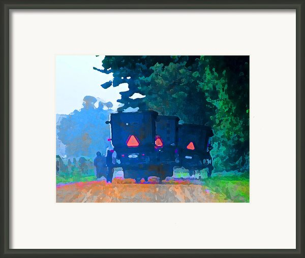 Nascar Buggies  Iii Framed Print By Lisa Noneman