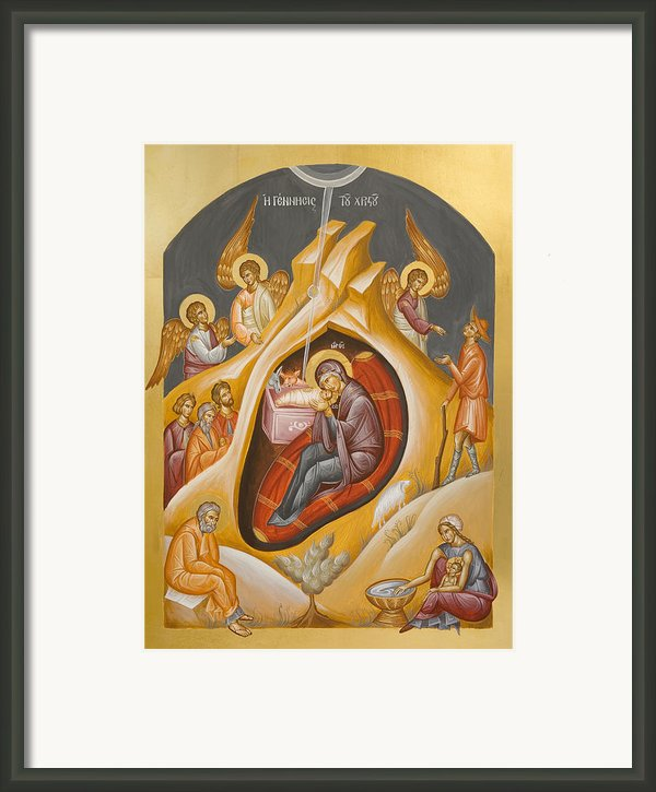 Nativity Of Christ Framed Print By Julia Bridget Hayes