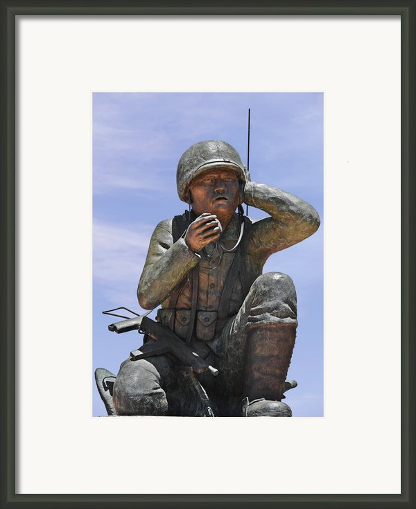 Navajo Code Talkers - Navajo People Framed Print By Christine Till
