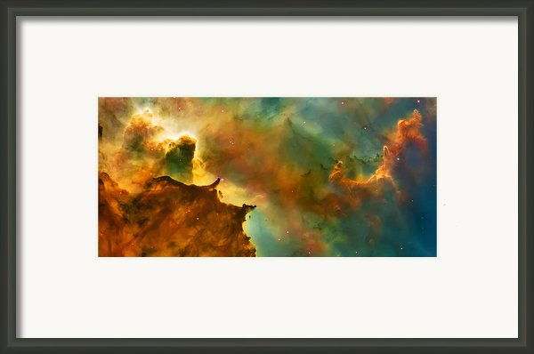 Nebula Cloud Framed Print By The  Vault - Jennifer Rondinelli Reilly