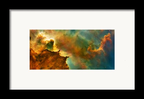 Nebula Cloud Framed Print By The  Vault - Jennifer Rondinelli Reilly