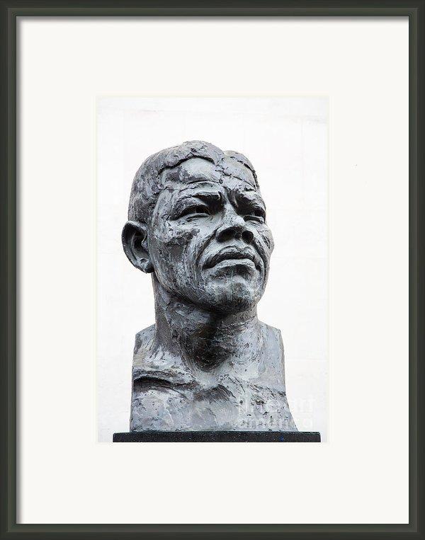 Nelson Mandela Statue Framed Print By Jane Rix