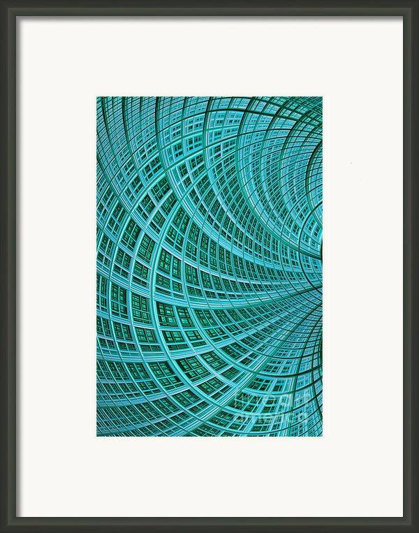 Network Framed Print By John Edwards