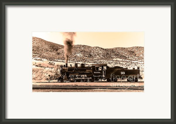 Nevada Northern Railway Framed Print By Robert Bales