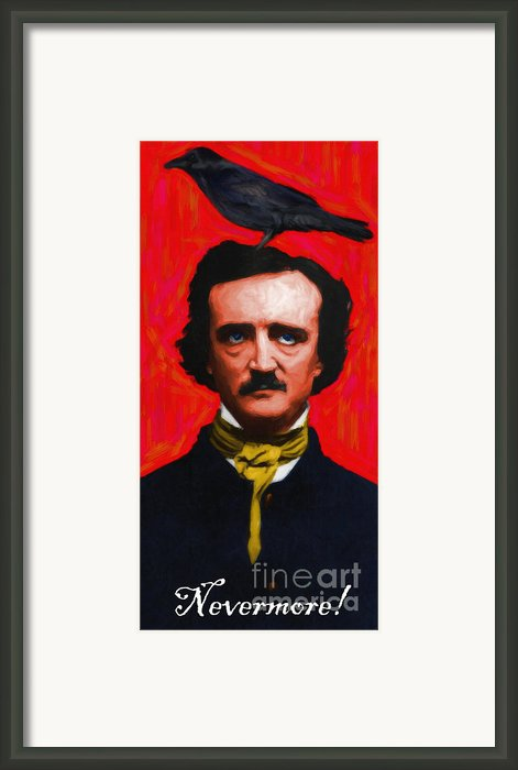 Nevermore - Edgar Allan Poe - Painterly Framed Print By Wingsdomain Art And Photography