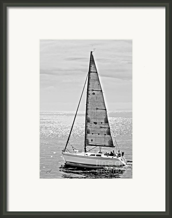New Dawn - Sailing Into Calm Waters Framed Print By Artist And Photographer Laura Wrede