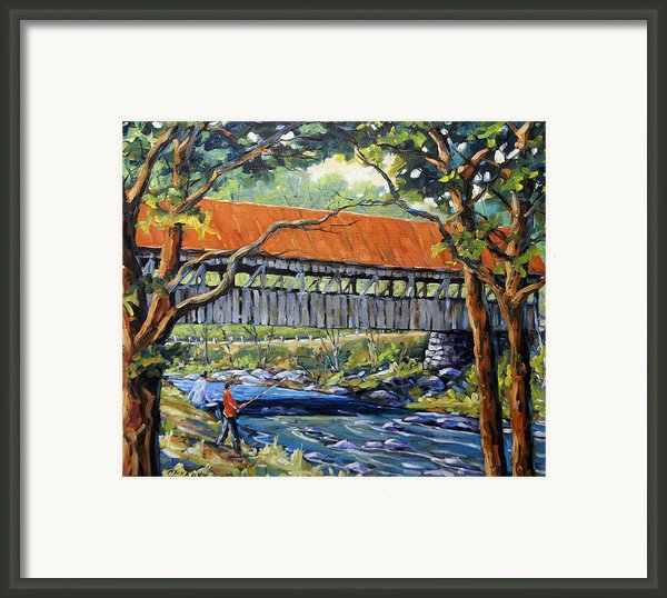 New England Covered Bridge By Prankearts Framed Print By Richard T Pranke