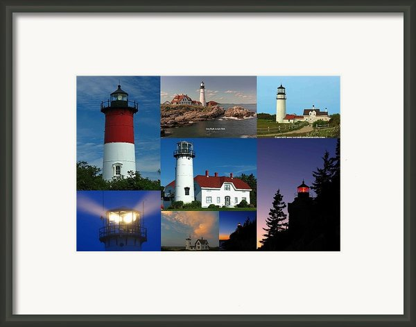 New England Lighthouse Collection Framed Print By Juergen Roth