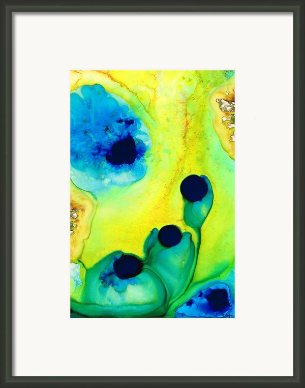 New Life - Green And Blue Art By Sharon Cummings Framed Print By Sharon Cummings
