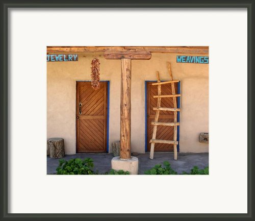 New Mexico Shop Fronts Framed Print By Heidi Hermes