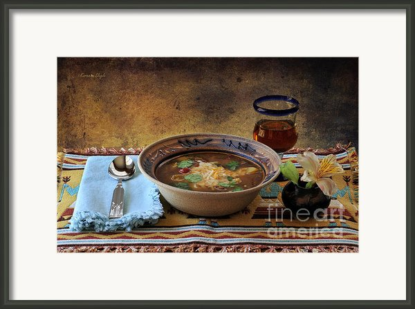 New Mexico Style Green Chile Stew Framed Print By Karen Slagle