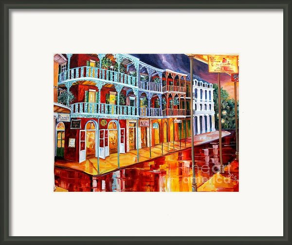 New Orleans Reflections In Red Framed Print By Diane Millsap