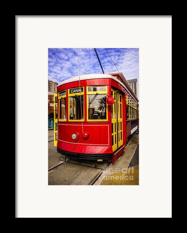 New Orleans Streetcar  Framed Print By Paul Velgos