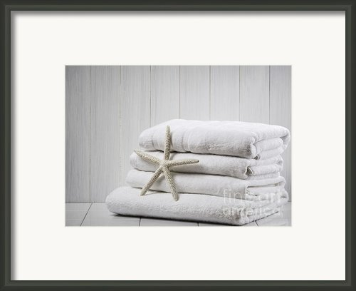 New White Towels Framed Print By Christopher And Amanda Elwell