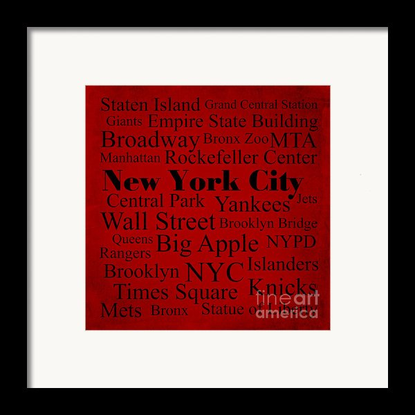 New York City Framed Print By Denyse And Laura Design Studio