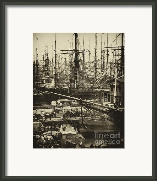 New York City Docks - 1800s Framed Print By Paul W Faust -  Impressions Of Light