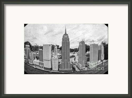 New York City Skyline - Lego Framed Print By Edward Fielding