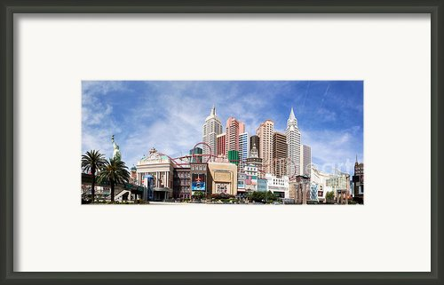 New York New York Las Vegas Framed Print By Jane Rix