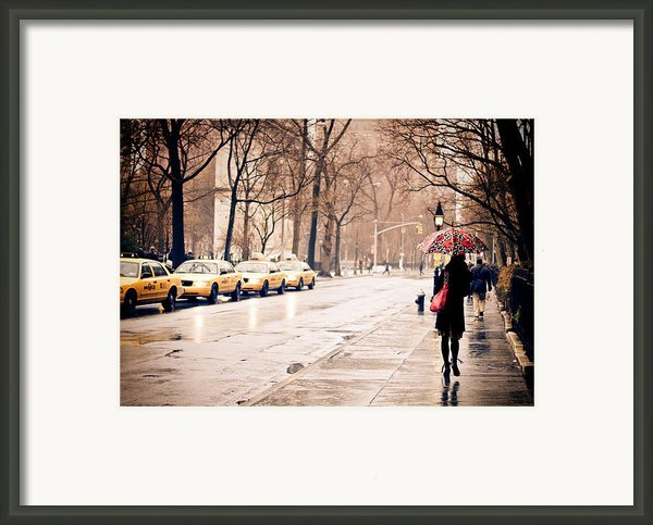 New York Rain - Greenwich Village Framed Print By Vivienne Gucwa