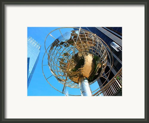 New York Steel Globe Framed Print By Jenny Hudson
