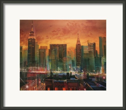 New York The Emerald City Framed Print By Tom Shropshire